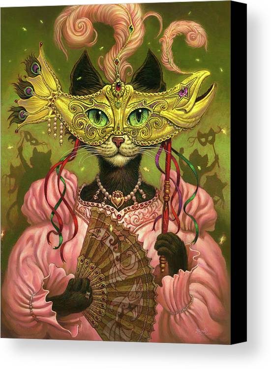 Jeff Haynie Canvas Print featuring the painting Incatneato by Jeff Haynie