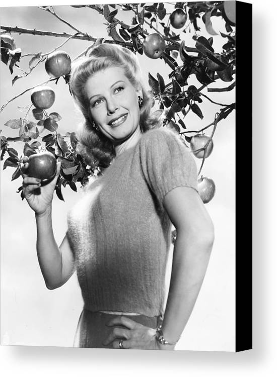 1940s Hairstyles Canvas Print featuring the photograph Irene Manning, Who Has Just Been Named by Everett
