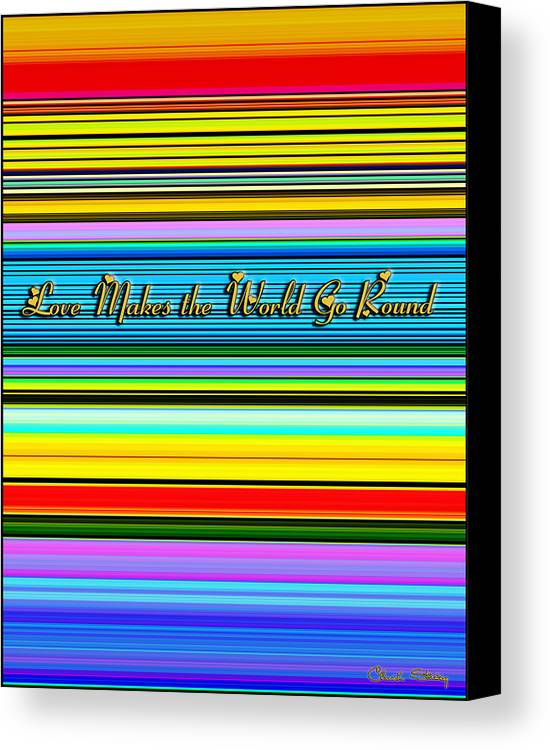 Love Canvas Print featuring the digital art Love by Chuck Staley