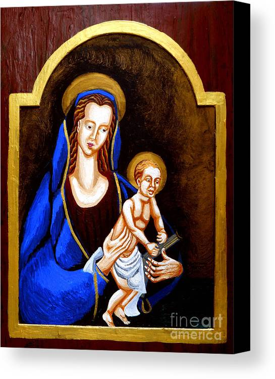 Madonna And Child Canvas Print featuring the painting Madonna And Child by Genevieve Esson