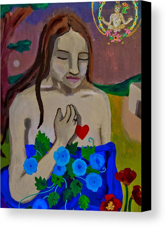 Figurative Canvas Print featuring the painting Mary Magdeline by An Seavey