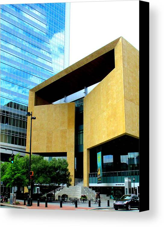 Charlotte Canvas Print featuring the photograph Mint Museum Charlotte by Randall Weidner