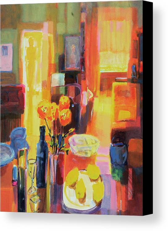 Nice Canvas Print featuring the painting Morning In Paris by Martin Decent