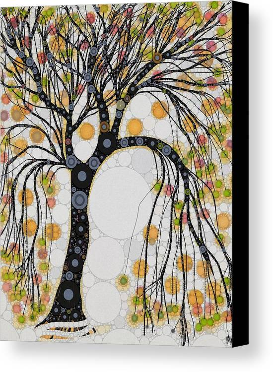 This Beautiful Tree Is One Of My Favorite Images... The Dramatic Hanging Of The Branches Signals The Season Change... Canvas Print featuring the digital art Noble Passion by Steven Boland