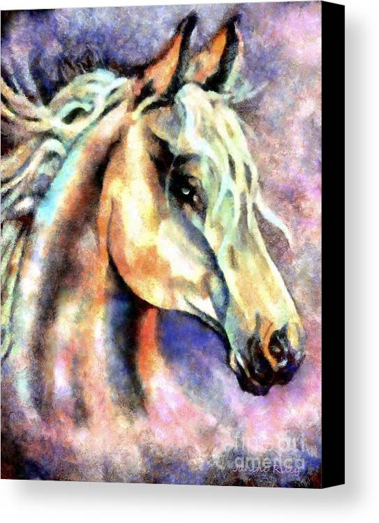 Spirit Canvas Print featuring the painting One Spirit by Janine Riley