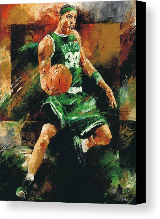 Paul Canvas Print featuring the painting Paul Pierce by Christiaan Bekker