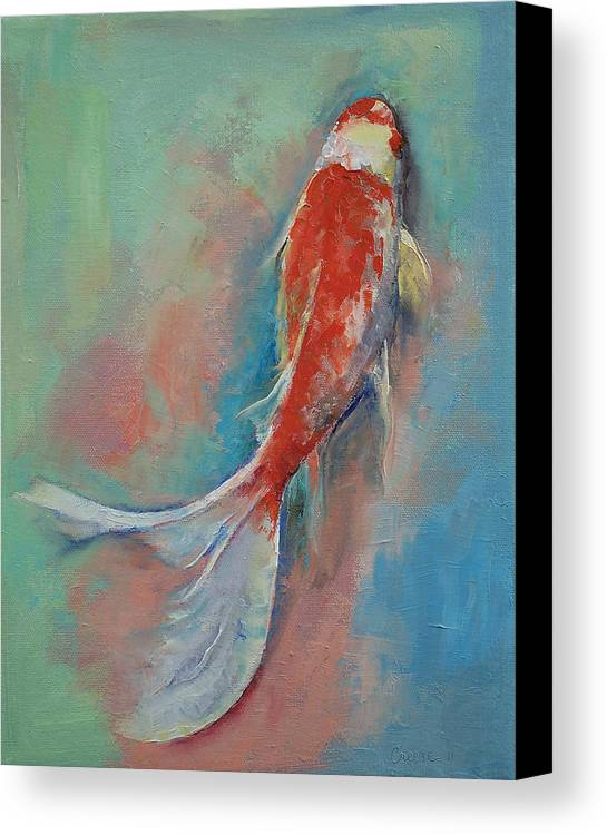 Pearl banded koi canvas print canvas art by michael creese for Koi canvas print