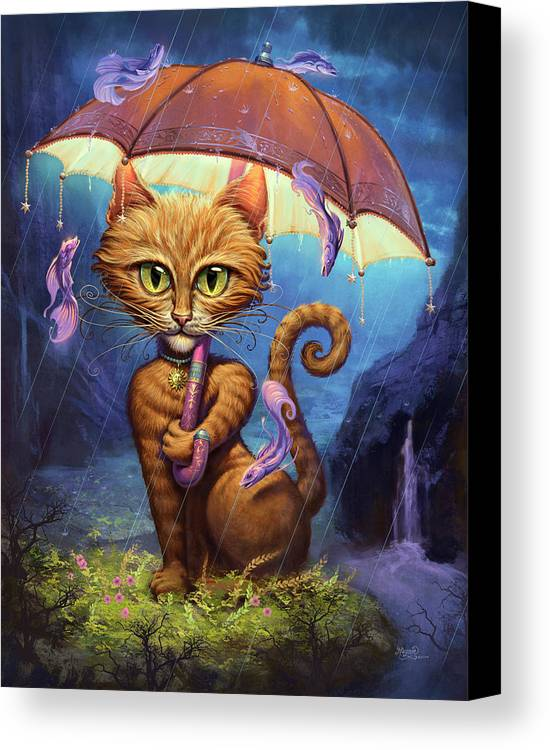 Jeff Haynie Canvas Print featuring the painting Personal Sunshine by Jeff Haynie