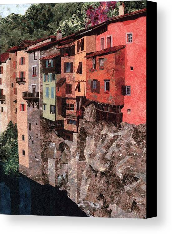 France Canvas Print featuring the photograph Pont En Royans by Lenore Crawford