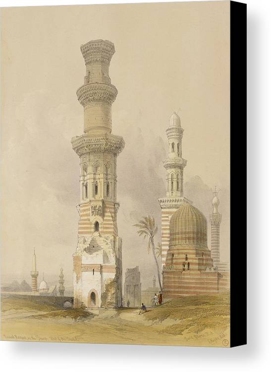 Ruins Canvas Print featuring the painting Ruined Mosques In The Desert by David Roberts
