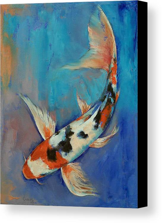 Sanke butterfly koi canvas print canvas art by michael for Koi canvas print