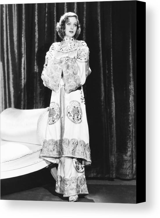 1930s Movies Canvas Print featuring the photograph Shanghai, Loretta Young, 1935 by Everett