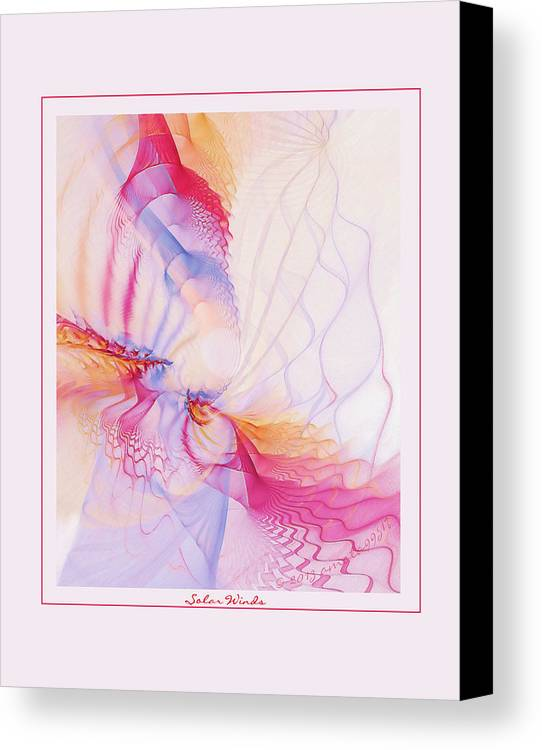 Fractal Canvas Print featuring the digital art Solar Winds by Gayle Odsather