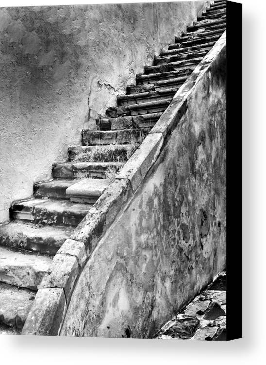 Stairs Canvas Print featuring the photograph Stairway To Nowhere by Barry Weiss