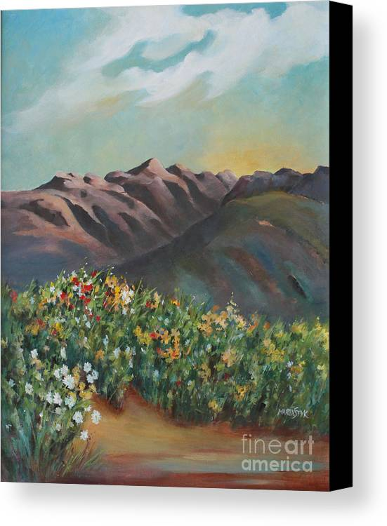 Landscape Canvas Print featuring the painting Summer At Kananaskis by Marta Styk