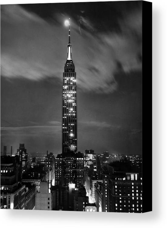 Empire Canvas Print featuring the photograph New York City by Retro Images Archive