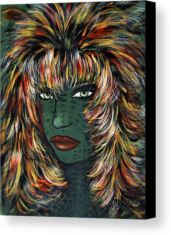 Woman Canvas Print featuring the painting Tattoo by Natalie Holland