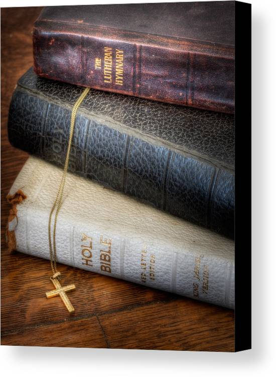 Bible Canvas Print featuring the photograph The Books by David and Carol Kelly