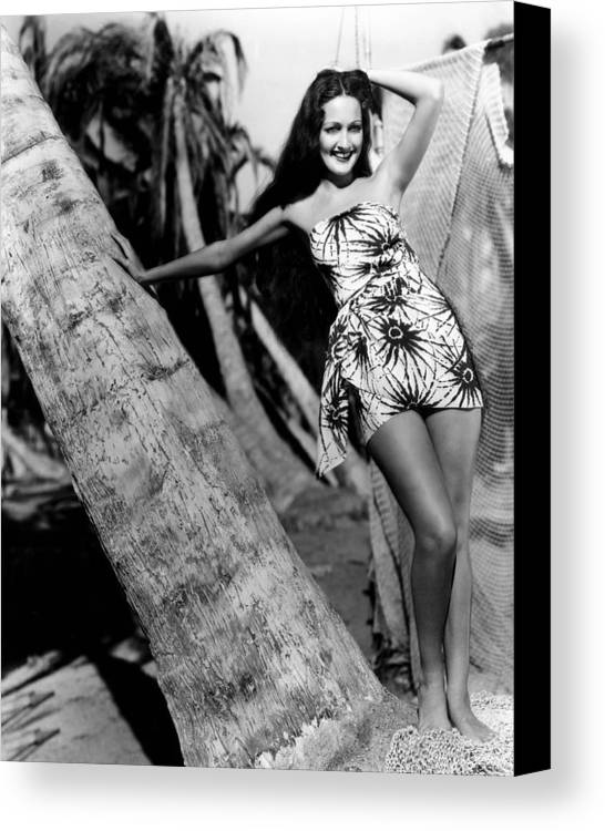 1930s Movies Canvas Print featuring the photograph The Hurricane, Dorothy Lamour, 1937 by Everett