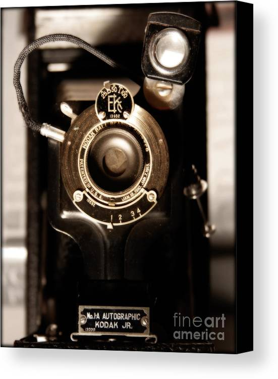 Camera Canvas Print featuring the photograph The Locomotive by Steven Digman