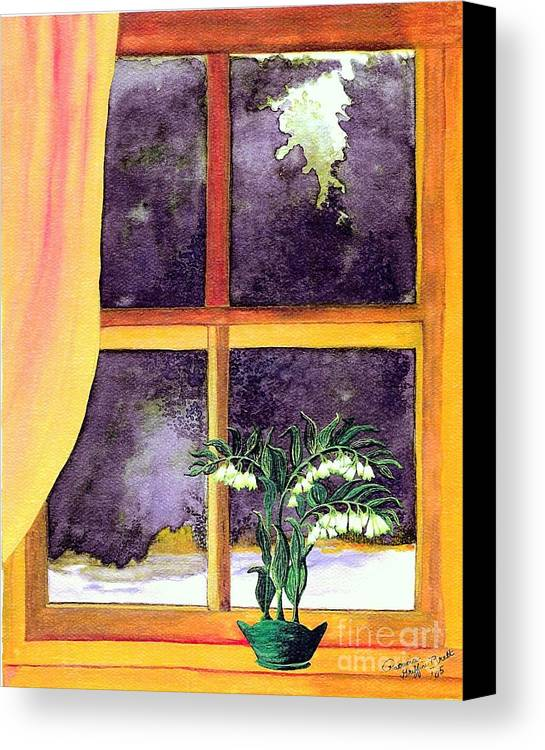 Fine Art Canvas Print featuring the painting Through The Window by Patricia Griffin Brett