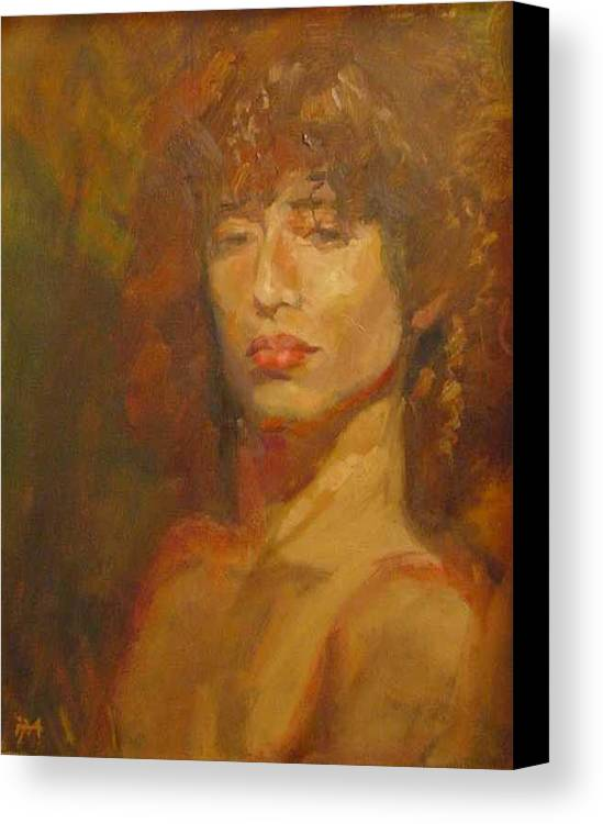 Portrait Canvas Print featuring the painting Tracy by Irena Jablonski