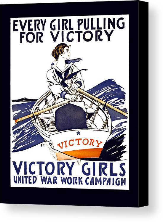 world War Canvas Print featuring the photograph Victory Girls Of W W 1   1918 by Daniel Hagerman