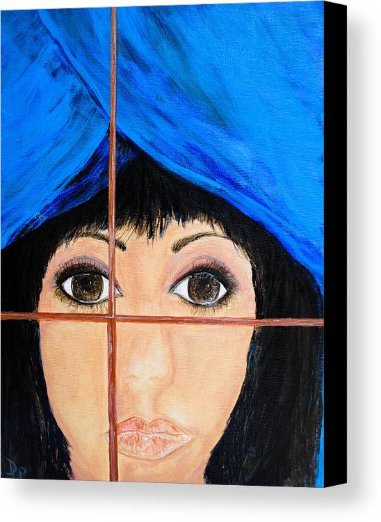 Waiting Canvas Print featuring the painting Waiting by Dixie Adams
