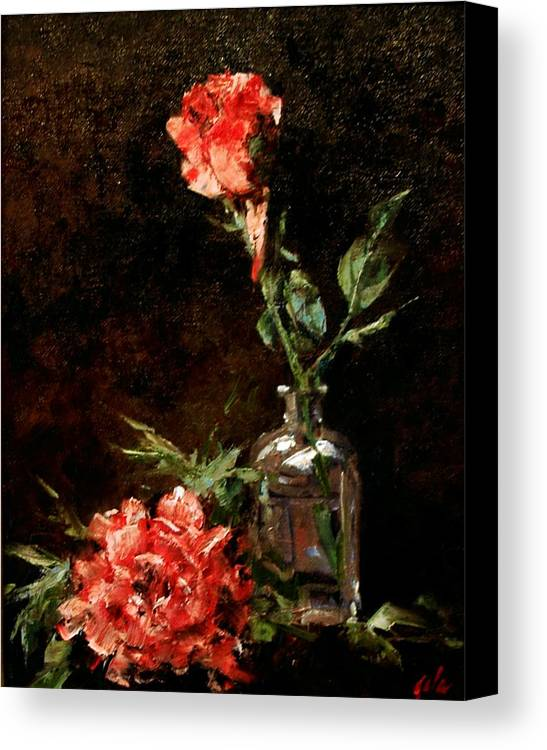 Floral Canvas Print featuring the painting Wild Irish by Jim Gola