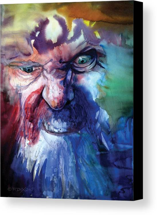 Emotions Canvas Print featuring the painting Wizzlewump by Frank Robert Dixon
