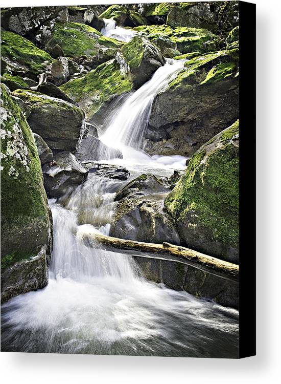 Arkansas Canvas Print featuring the photograph 0804-0035 Cascade Above Triple Falls by Randy Forrester