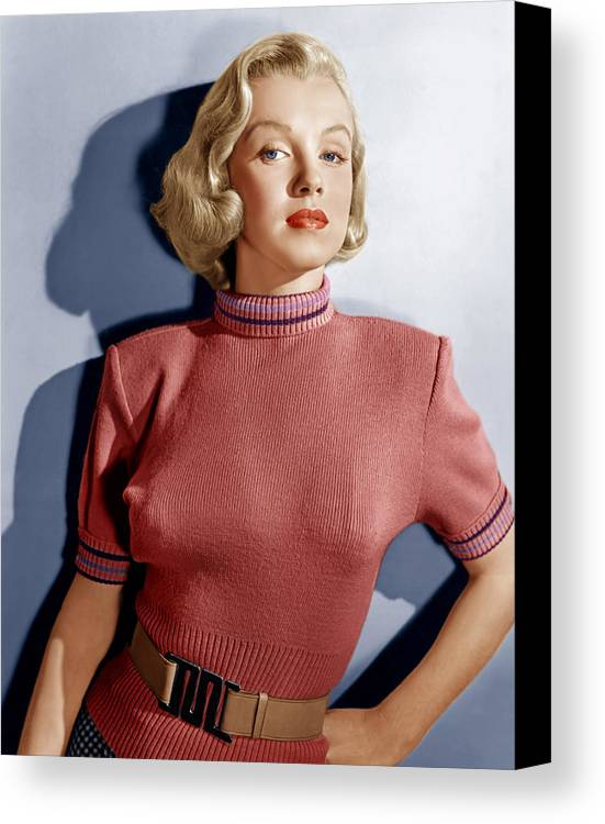 1950s Fashion Canvas Print featuring the photograph Home Town Story, Marilyn Monroe, 1951 by Everett