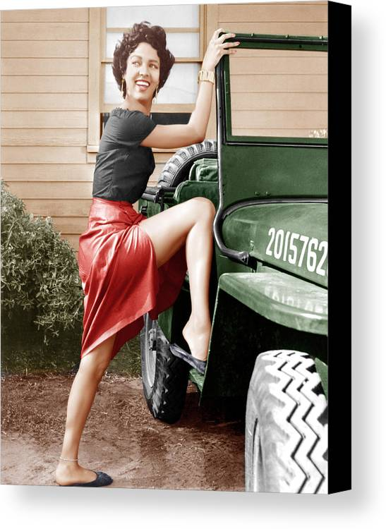 1950s Portraits Canvas Print featuring the photograph Carmen Jones, Dorothy Dandridge, 1954 by Everett