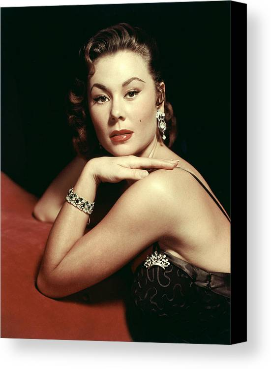 1950s Portraits Canvas Print featuring the photograph Mitzi Gaynor, Ca. Early 1950s by Everett