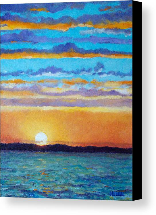 Sunset Canvas Print featuring the painting Bay Sunset by Robert Henne