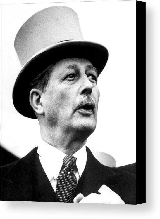 1950s Canvas Print featuring the photograph British Prime Minister Harold by Everett