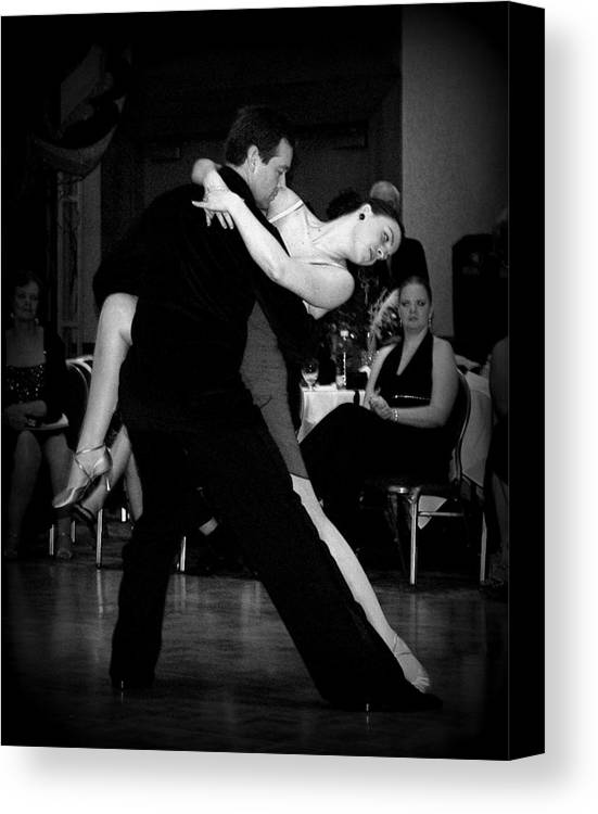 Dance Canvas Print featuring the photograph Dance Room Drama by Lori Seaman