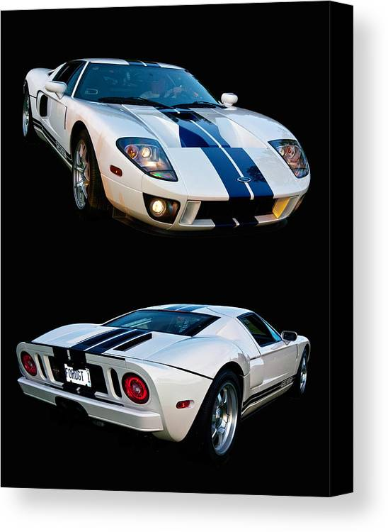 Ford Canvas Print featuring the photograph Ford Gt Twins by Bill Dutting