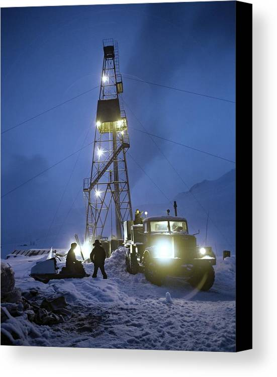 Human Canvas Print featuring the photograph Geothermal Power Station Drilling by Ria Novosti