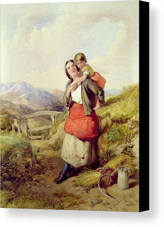 Mother Canvas Print featuring the painting Going Home by William Lee