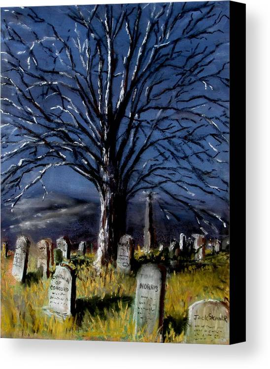 Cemetary Canvas Print featuring the painting Left Alone by Jack Skinner