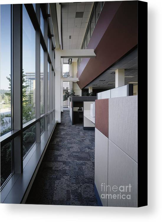 Architecture Canvas Print featuring the photograph Office by Robert Pisano