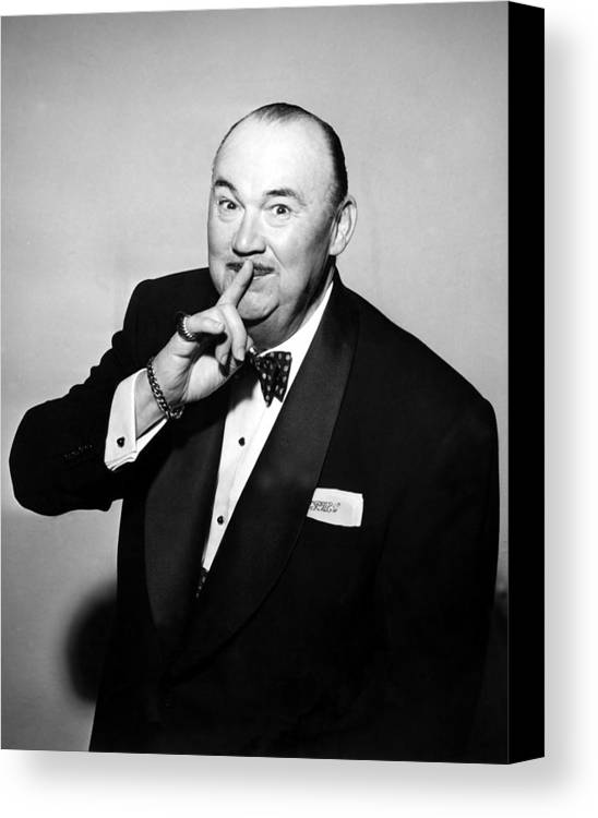 1950s Portraits Canvas Print featuring the photograph Paul Whiteman, Bandleader, Early 1950s by Everett