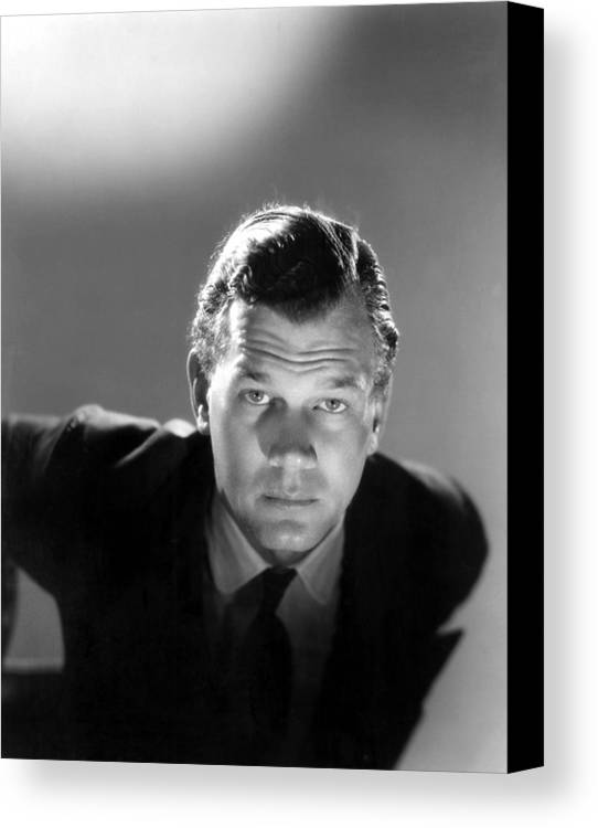 1940s Portraits Canvas Print featuring the photograph Shadow Of A Doubt, Joseph Cotten, 1943 by Everett