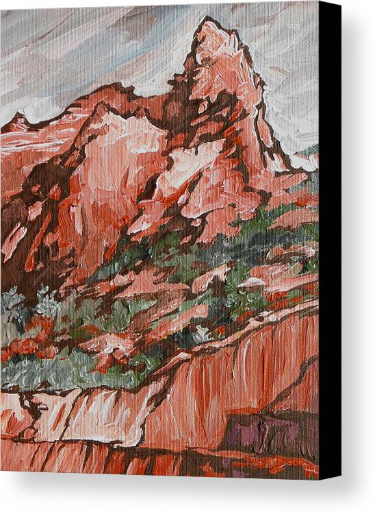Sedona Canvas Print featuring the painting Soldiers Pass Trail by Sandy Tracey