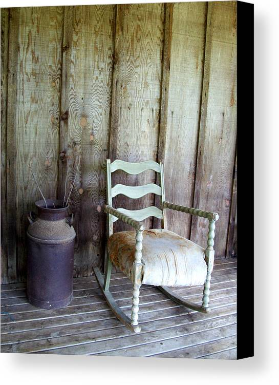 Chair Canvas Print featuring the photograph The Good Ole Days by De Beall