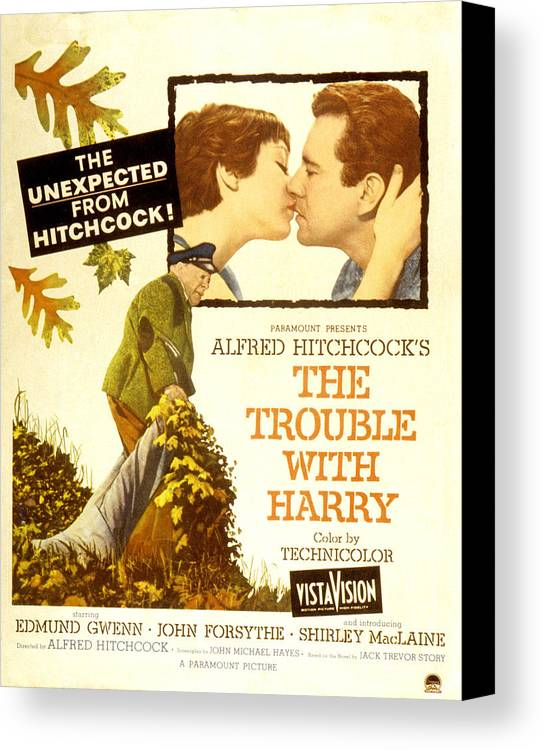 1950s Poster Art Canvas Print featuring the photograph The Trouble With Harry, Shirley by Everett