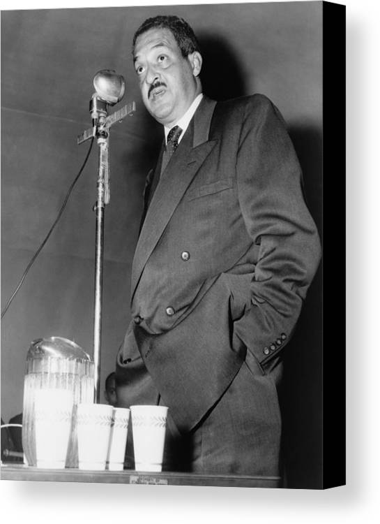 History Canvas Print featuring the photograph Thurgood Marshall, Then Chief Counsel by Everett