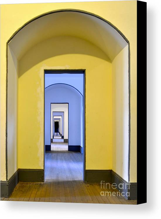 Doorways Canvas Print featuring the photograph Tunnel Of Doors At Fort Point by Kim Frank