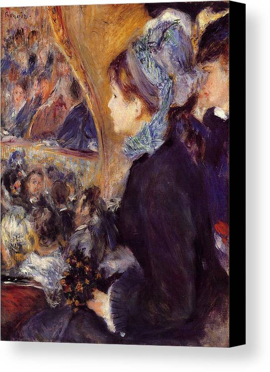 Child Canvas Print featuring the painting At The Theatre by Pierre-Auguste Renoir